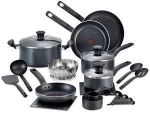 T-Fal 18-Pc. Initiatives Non-Stick Cookware Set After Rebate
