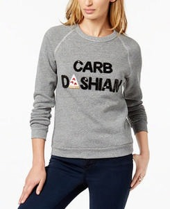 Carbdashian Sequined Graphic Sweatshirt