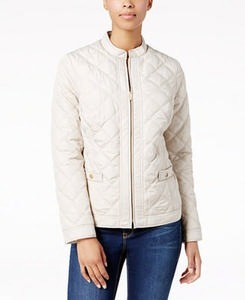 Quilted Hardware-Detail Jacket