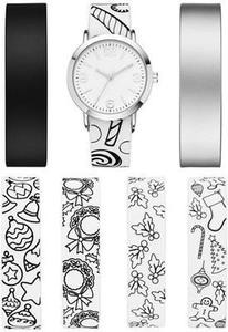 36mm PVC Bracelet Watch Set