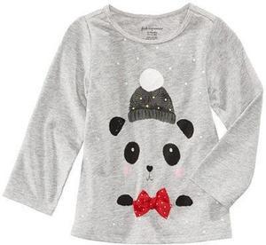 Panda-Print T-Shirt, Baby Girls (0-24 months)