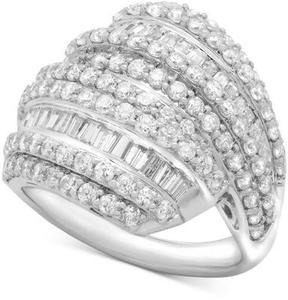Wrapped in Love Diamond Layered Cluster Ring