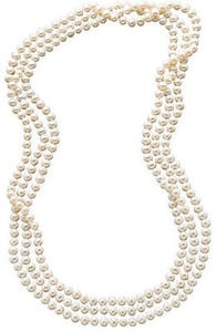 "100"" Cultured Freshwater Pearl Endless Strand Necklace 7-8mm"