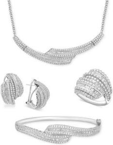 Diamond Collar Necklace (2 ct. t.w.) In Sterling Silver