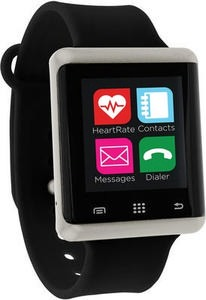 iTouch Unisex Pulse Black Silicone Strap Smart Watch
