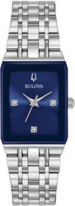 Bulova Women's Diamond-Accent Stainless-Steel Watch 21x32mm