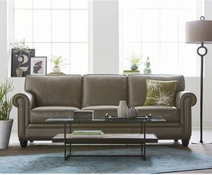 Martha Stewart Bradyn Leather Sofa Collection