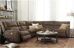 Brant Fabric Power Reclining Sectional Sofa Collection w/Power Headrests