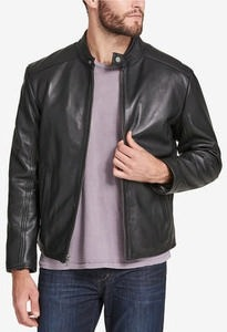 Marc New York Men's Leather Moto Jacket