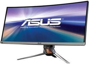 "Asus ROG PG348Q Black 34"" 3440 x 1440, 100 Hz Curved IPS G-Sync 21:9 WQHD Gaming Monitor with Speakers, Height and Swift Adjustable"