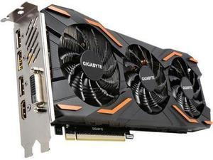 GIGABYTE GeForce GTX 1080 DirectX 12 GV-N1080WF3OC-8GD 8GB 256-Bit GDDR5X PCI Express 3.0 x16 ATX Video Card