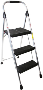 Werner 3-Step 225-lb Silver Aluminum Step Stool