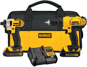Dewalt 2-Tool 20-Volt Max Lithium Ion (Li-ion) Cordless Combo Kit with Soft Case