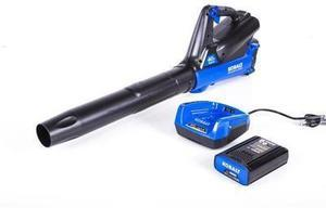Kobalt 40-volt Max Lithium Ion 350-CFM 100-MPH Medium-Duty Cordless Electric Leaf Blower (Battery Included)