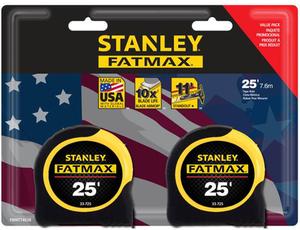 Stanley FATMAX 2-Pack 25-ft Tape Measures