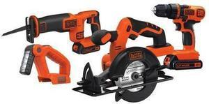 BLACK & DECKER 4-Tool 20-Volt Lithium Ion (Li-ion) Cordless Combo Kit