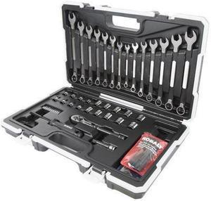 Kobalt Universal 67-Piece Standard And Metric Mechanic's Tool Set with Hard Case