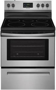 Frigidaire Smooth Surface Freestanding 5-Element 4.9-cu ft Electric Range (EasyCare Stainless Steel) (Common: 30-in; Actual: 29.875-in)