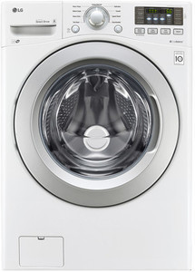 LG TWINWash Compatible 4.5-cu ft High-Efficiency Stackable Front-Load Washer