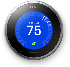 Nest Stainless Steel Learning Thermostat with Wifi compatibility