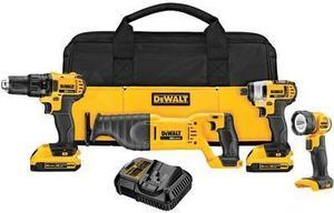 DEWALT 4-Tool 20-Volt Max Lithium Ion Li-ion Cordless Combo Kit w Soft Case