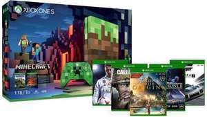 Xbox One S 1TB Console  Minecraft Limited Edition Bundle + 2 Free Select Games of Choice