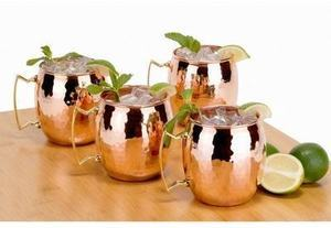 Old Dutch Hammered Moscow Mule Mugs 4-Set