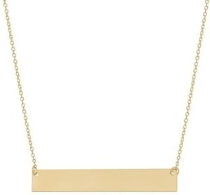 Fremada 14k Gold Engraeable Bar Necklace