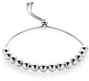 Mondevio Sterling Silver Slider Bead Bracelet