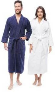 Cotton Unisex Terry Bath Robe