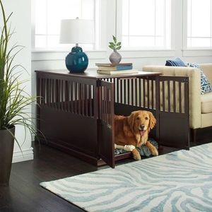 Wooden Pet Crate End Table