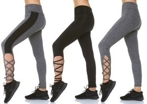 S2 Sportswear Women's Performance Lace-Up Cut-Out Leggings