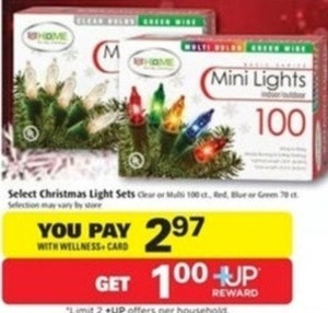 799 riteaid select christmas light sets w wellness card