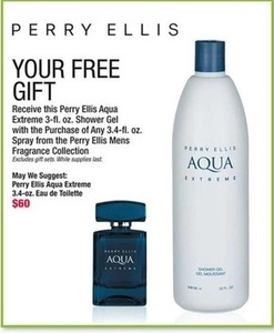 Perry Ellis Aqua Extreme Eau de Toilette + Free Gift