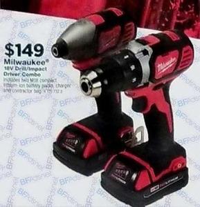 Milwaukee 18V Drill/Impact Driver Combo