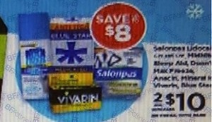 Salonpas, Vivarin or Anacin