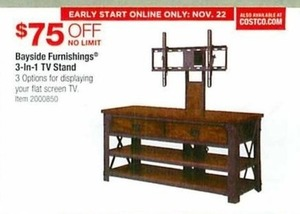 Bayside Furnishings 3 In 1 Tv Stand