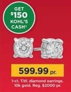 1-ct. T.W. Diamond Earrings