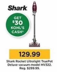 Shark Rocket Ultralight True Pet Deluxe Vacuum + $30 Kohl's Cash