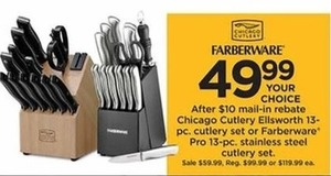 Farbenware Pro 13-pc. Stainless Steel Cutlery Set After Rebate
