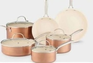 Copper Ceramic 10 Piece Cookware Set (With Rebate)