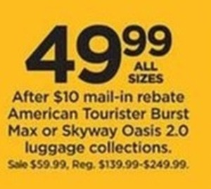 American Tourister Burst Max or Skyway Oasis 2.0 Luggage Collections (With Rebate)