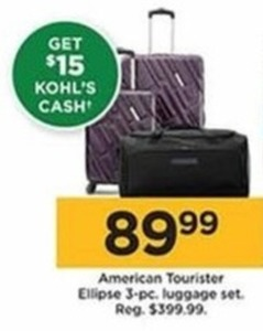 American Tourister Ellipse 3 Piece Luggage Set (Get $15 Kohl's Cash)