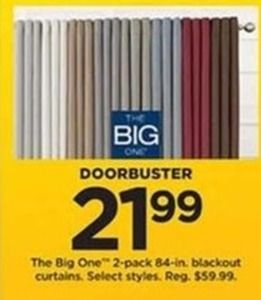 The Big One 2-Pack 84-Inch Blackout Curtains