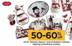 St. Nicholas Square & Winterberry Holiday Tabletop & Kitchen Textiles