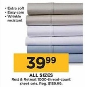 Rest & Retreat 1000-Thread-Count Sheet Sets