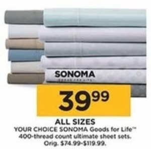 All Sizes Sonoma Goods for Life 400-Thread Count Ultimate Sheet Sets