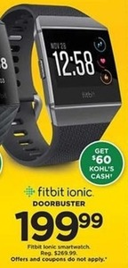 Fitbit Ionic Smartwatch (Get $60 Kohl's Cash)