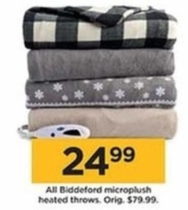 All Biddeford Microplush Heated Throws