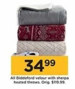 All Biddeford Velour w/ Sherpa Heated Throws